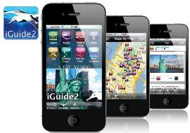 diseño de aplicacion iphone - ipad, desarrollo realizado por vanadis para guía de viajes cliente iguide