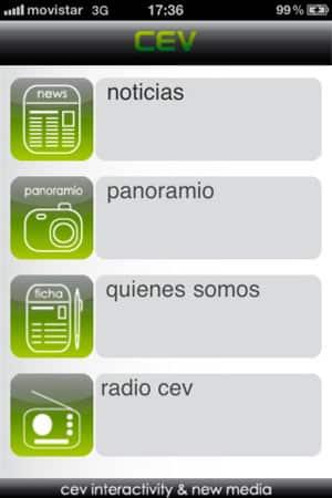 diseño de aplicaciones iphone y androd de cev multimedia 1
