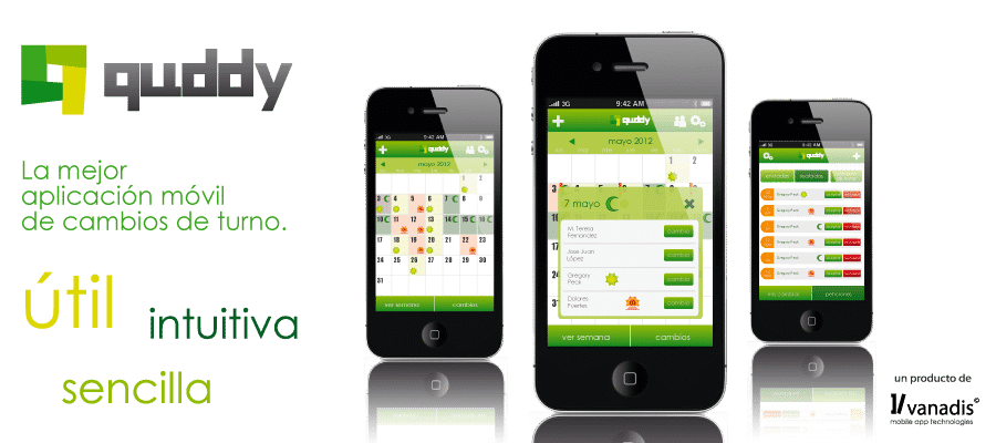 desarrollador de aplicaciones android e iphone - Quddy la app de cambio de turnos de trabajo
