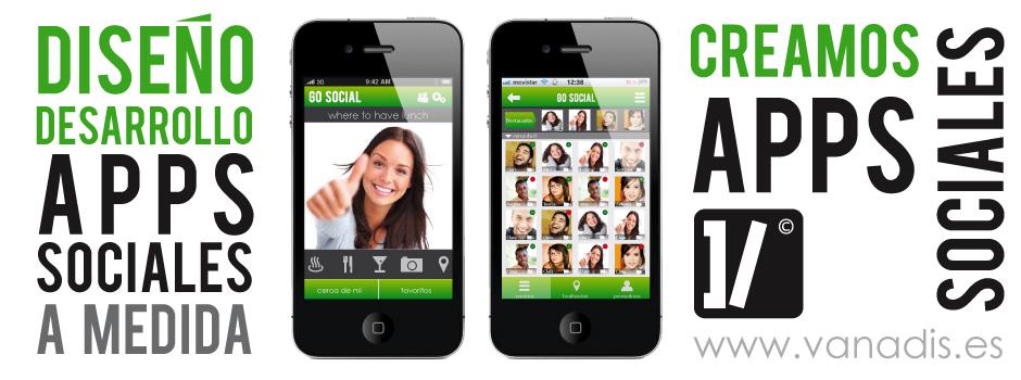 desarrollo de aplicacion de red social para iphone y android, empresa de diseño
