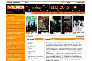 nueva página web 2.0 de diseño creativo para multicines 2