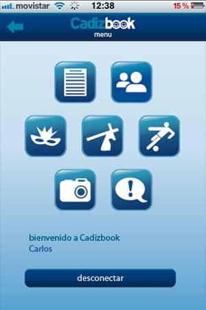 diseño de aplicación para android e iphone cadizbook 1