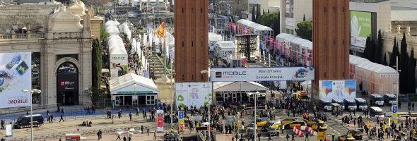 Vista general del Mobile World Congress 2012 de Barcelona