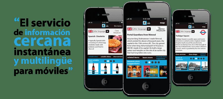 diseno de aplicacion android iphone de informacion urbana - closer info