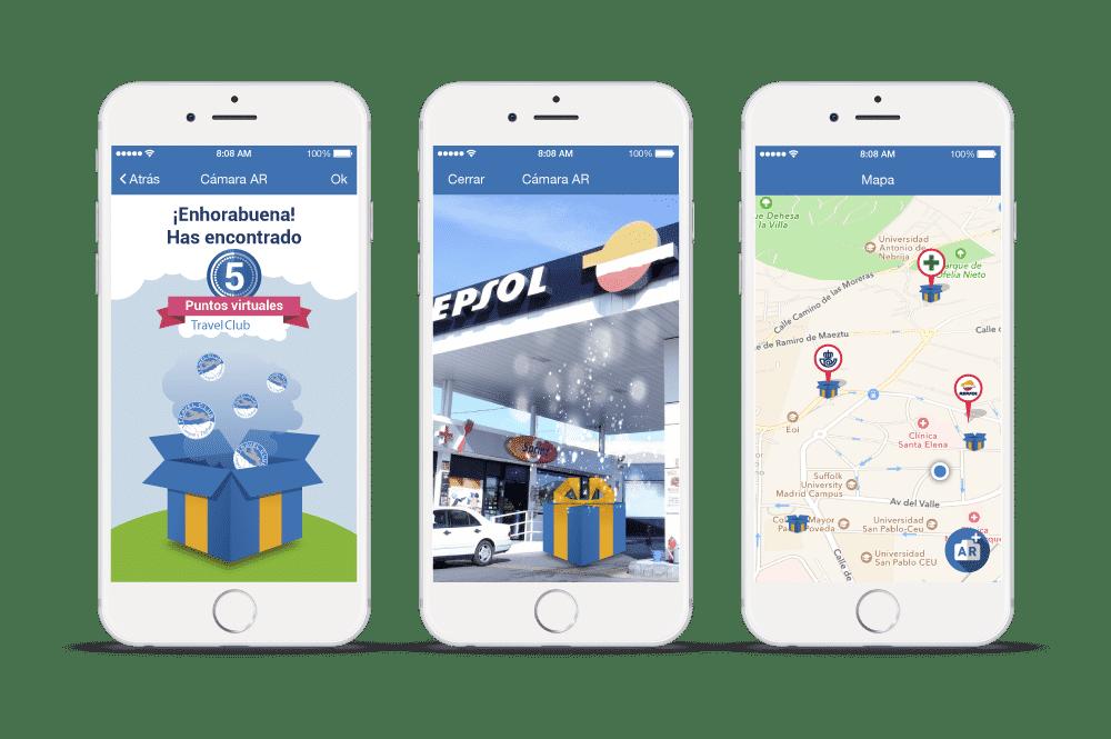 Ejemplo de la app para Travel Club